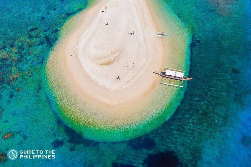 Mararison Island in Antique, Philippines
