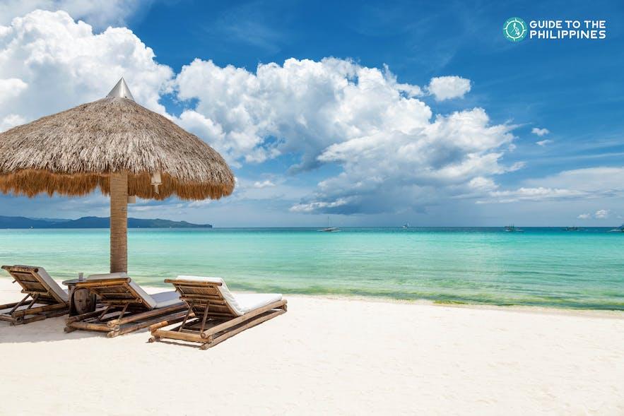 Lounge at Boracay's shore