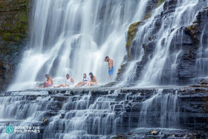 Travelers at the Merloquet Falls in Zamboanga