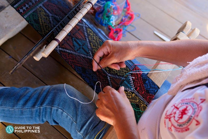 Local weavers at Yakan Weaving Village in Zamboanga City