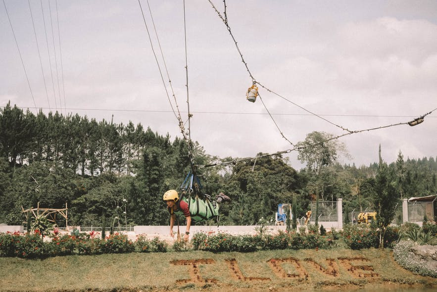 Zipline at Dahilayan Forest and Adventure Park in Cagayan de Oro