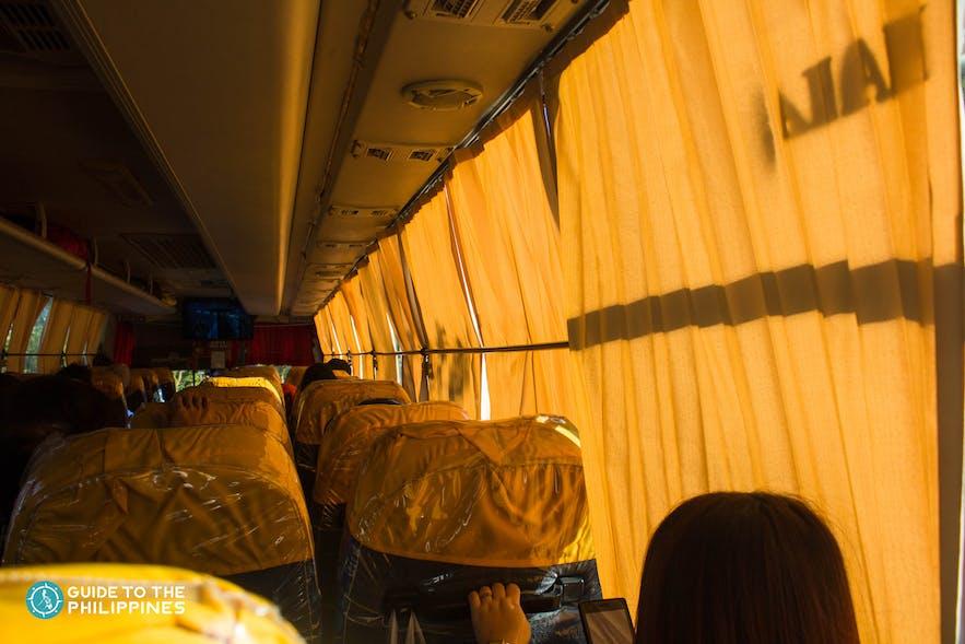 Bus ride going to Pangasinan