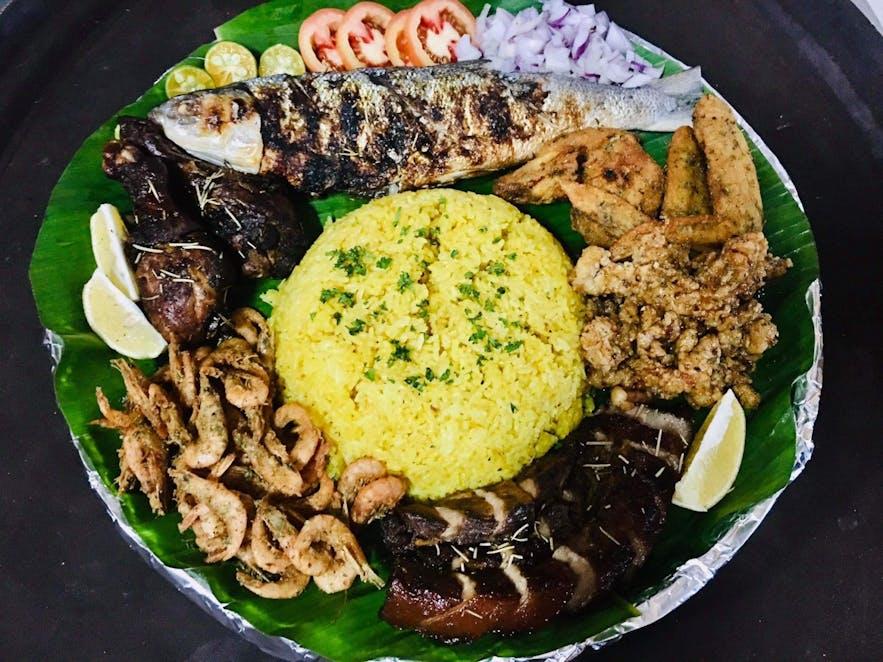 Seafood platter at Matutina's in Pangasinan