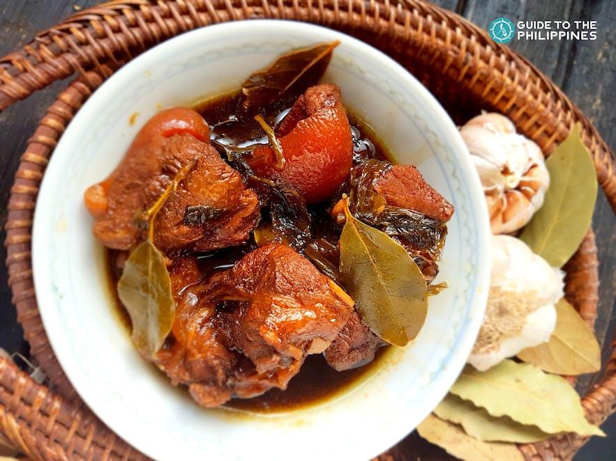 Famous Filipino food called Pork Adobo