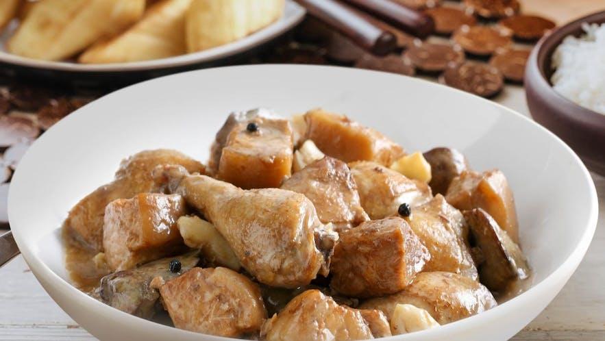 Chicken Pork Adobo sa Puti