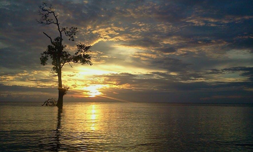 Beach view at Almari Beach Resort in Tawi-Tawi, Philippines