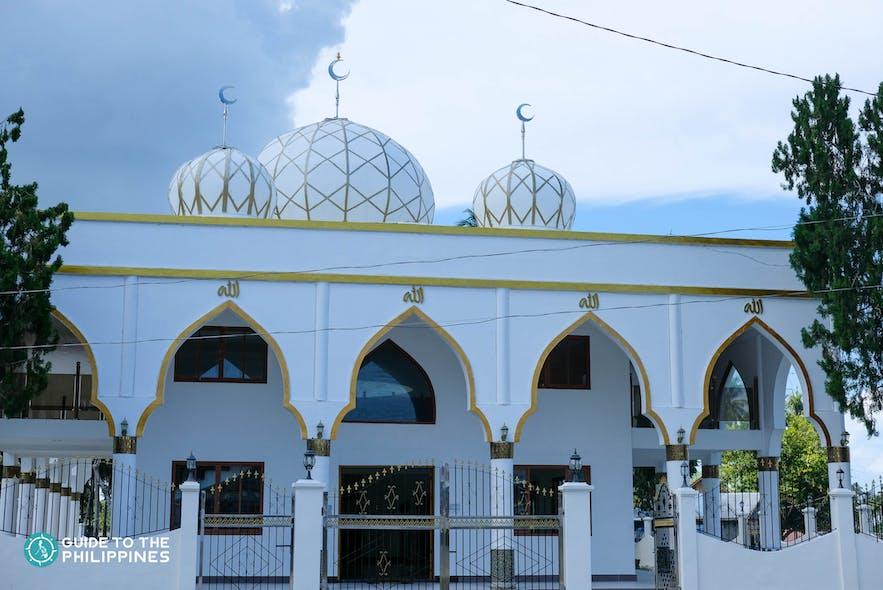 Facade of the Sheik Karim al Makdum Mosque in Tawi-Tawi, Philippines