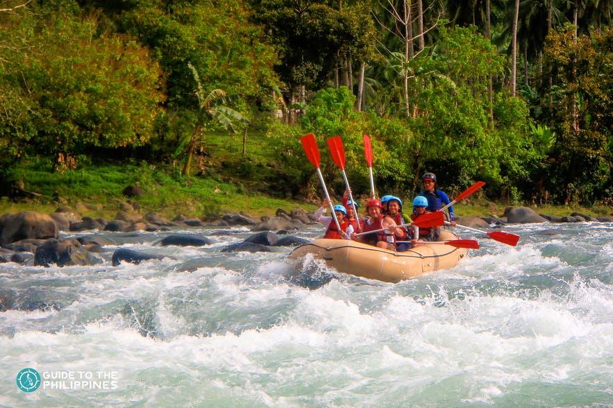 White water rafting adventure in Cagayan de Oro, Philippines