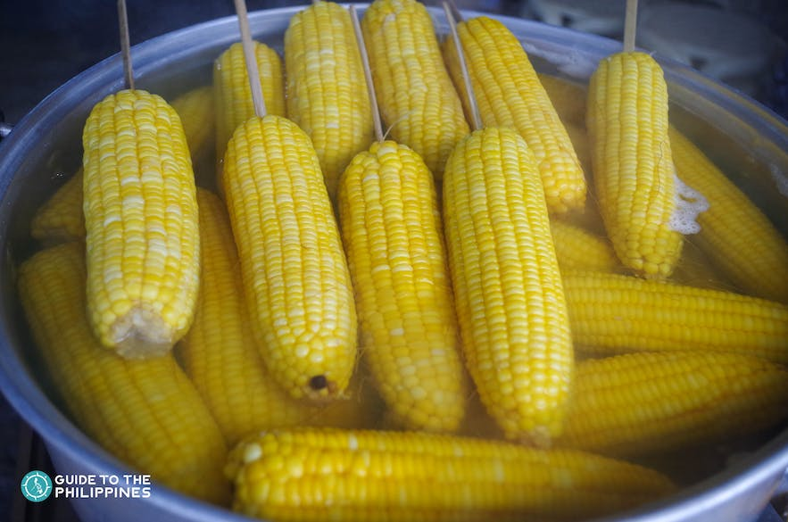 Steamed or grilled corn is considered a  popular snack in the Philippines