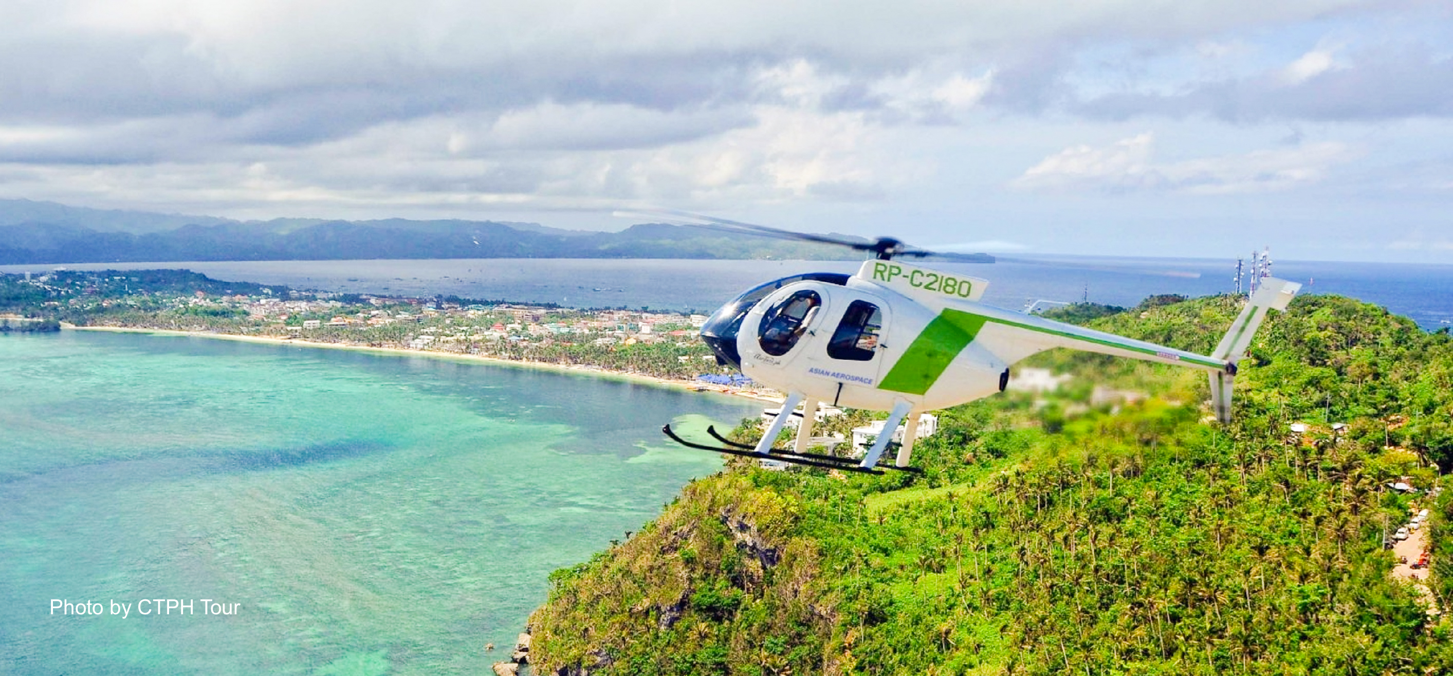 15-min Boracay Helicopter Tour with Hotel Transfers