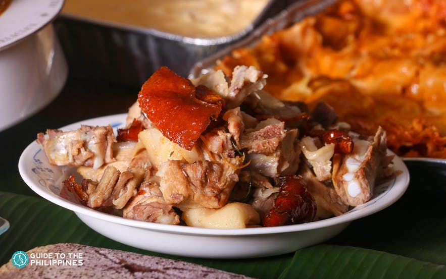 Philippine lechon on a plate