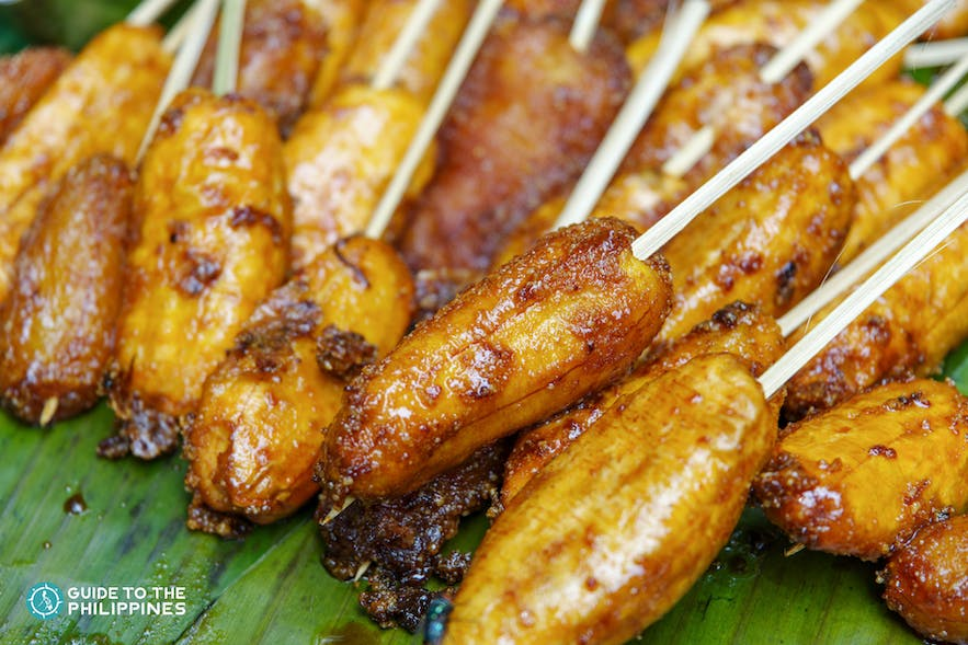Banana cue in the Philippines