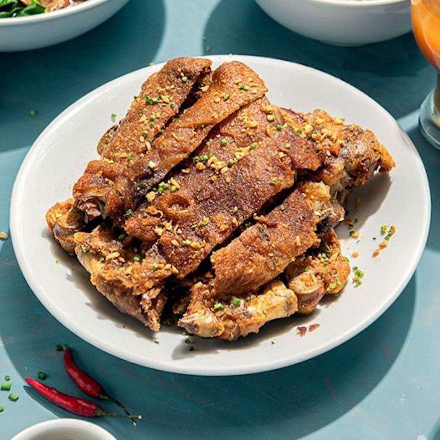 Manam Comfort Filipino's famous crispy pata