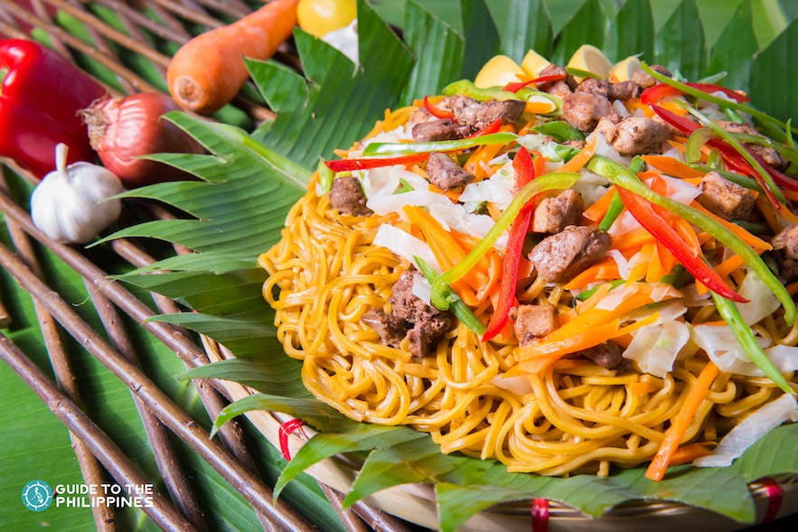 Pancit canton in the Philippines