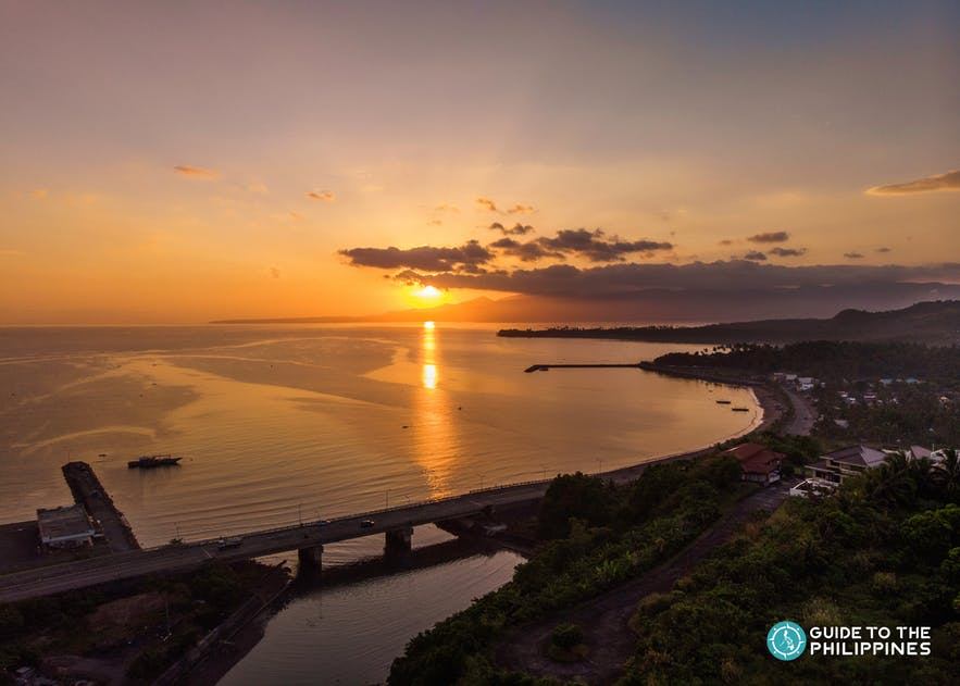 Sunset view in Legazpi Boulevard