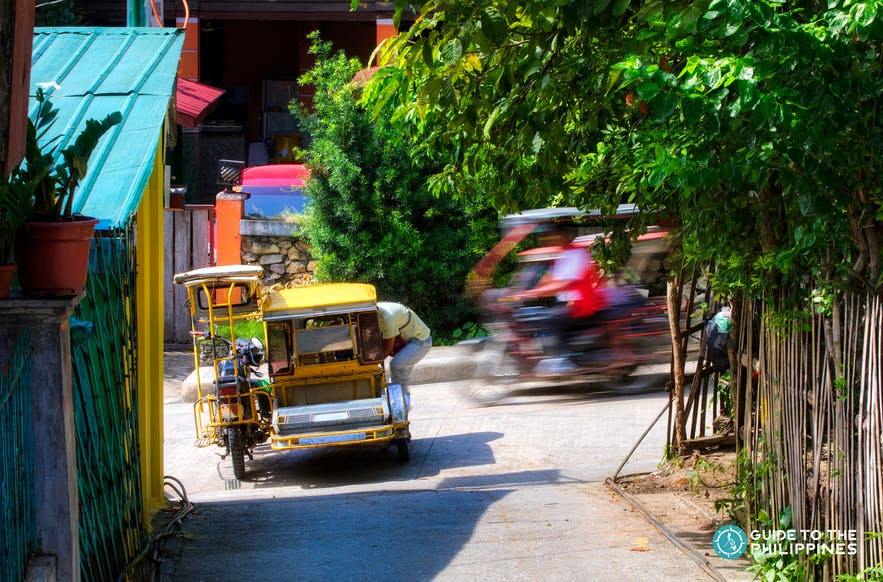 A tricycle, one of the modes of transportation in Samal Island