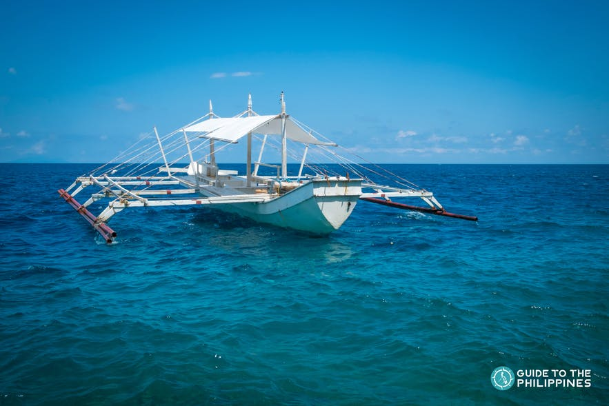 A boat in Samal Island going to other islands