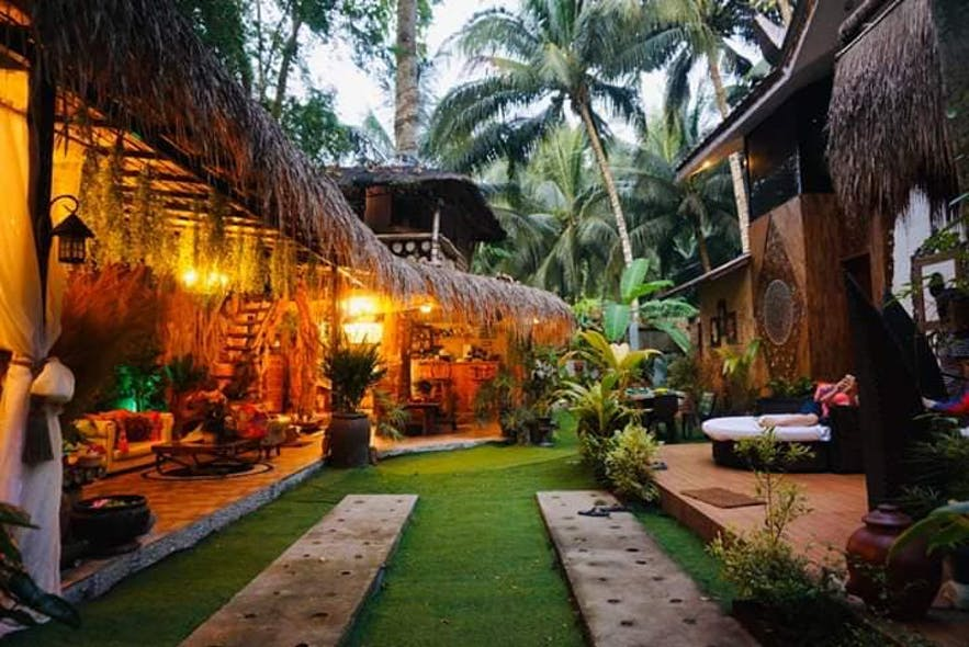 A Bali-inspired vacation house called Indo Bali House in Samal Island