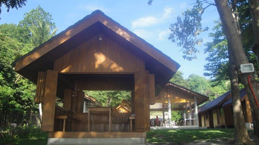 A hut in Aundanao Oasis Beach Resort
