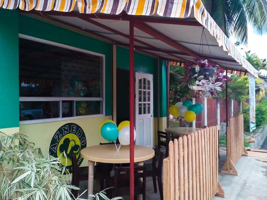 Facade of Aznebo Grill & Restaurant