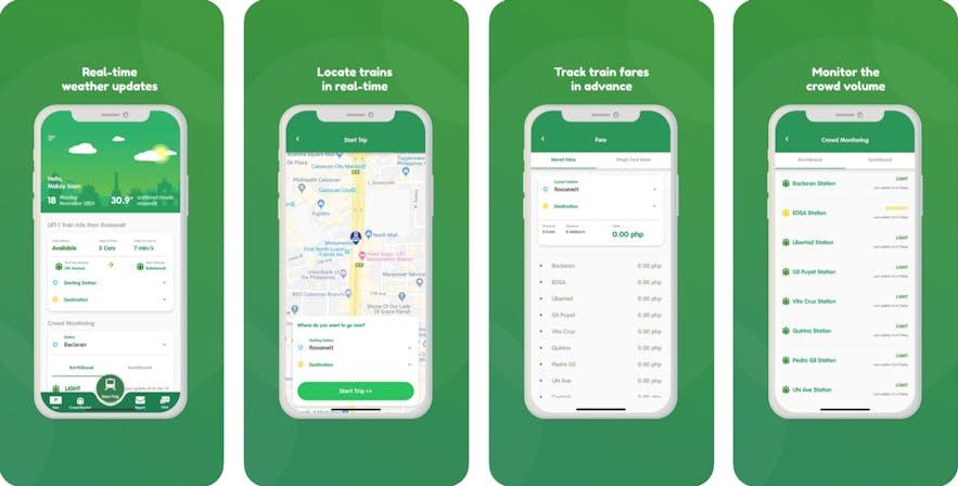 Screenshot of the ikotMNL application on iPhone