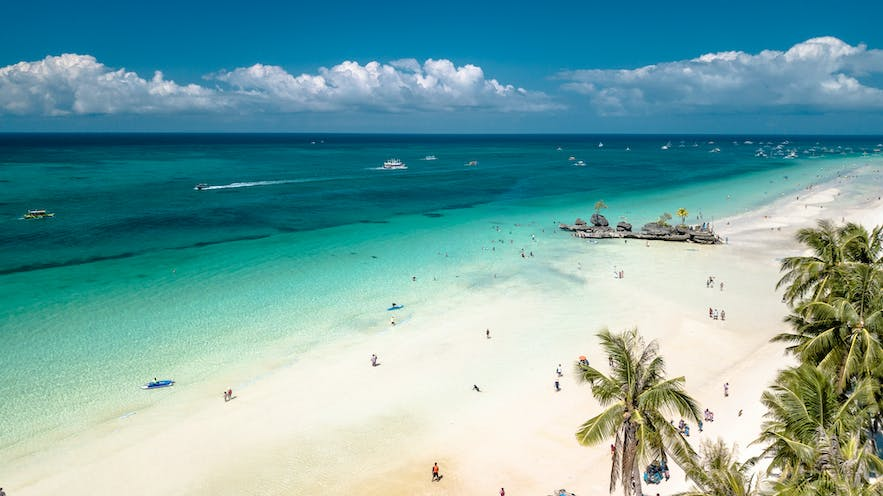 White Beach in Boracay Island, Philippines