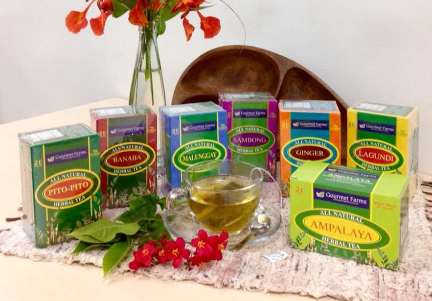 Tea products from Gourmet Farms