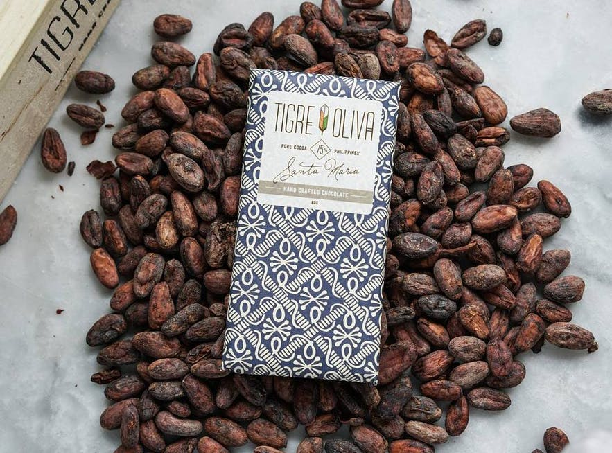 Chocolate products by Tigre y Oliva
