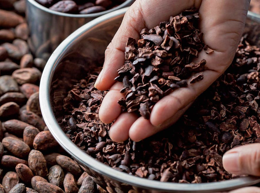 Cacao nibs from Malagos Chocolate
