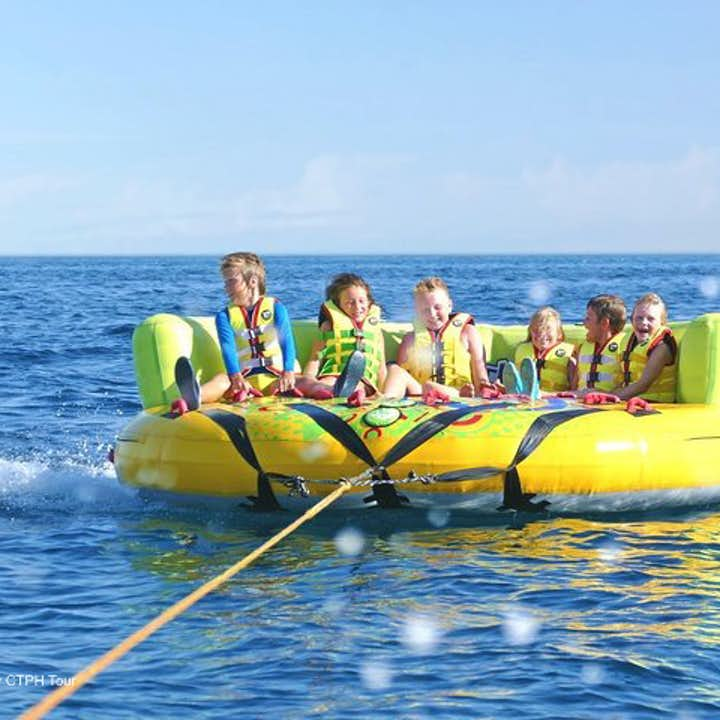 Boracay Island Hopping & UFO Water Activity Shared Tour with Lunch & Transfers