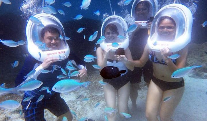 Boracay Island Hopping & Helmet Diving Shared Tour with Lunch & Transfers