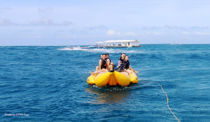 Boracay Island Hopping & Banana Boat Water Activity Shared Tour with Lunch & Transfers