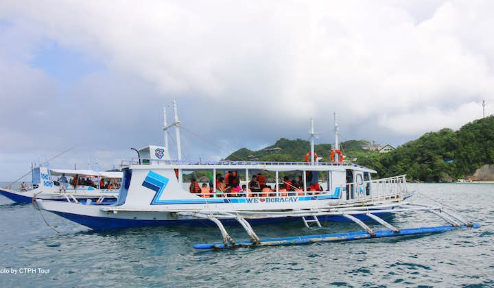 Boracay Island Hopping, Helmet Diving & Banana Boat Activity Shared Tour with Lunch & Transfers