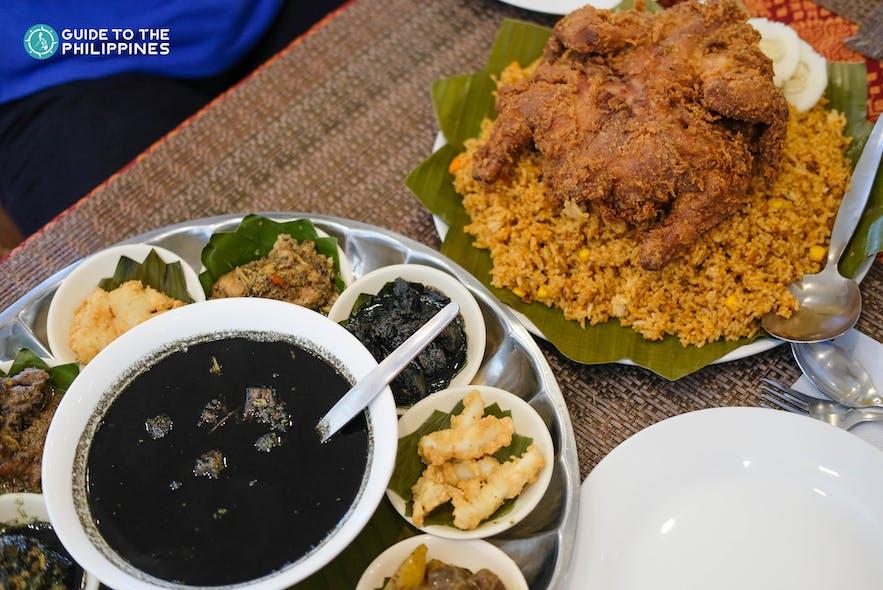 Local dishes in a restaurant in Zamboanga