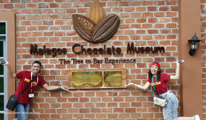 Visitors at the entrance of Malagos Chocolate Museum in Davao