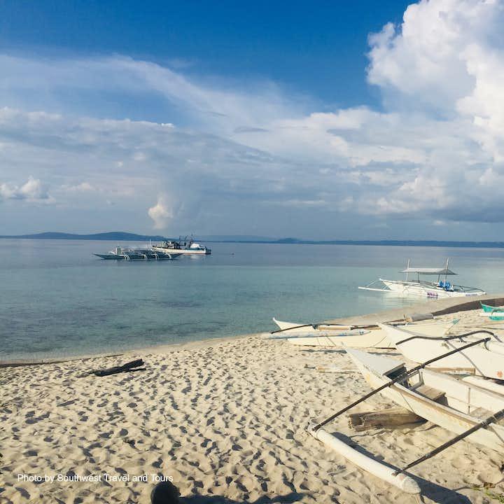 Sunny day at a Bohol beach in Pamilacan Island