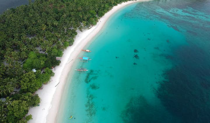 Aerial view of Subic Beach in Sorsogon