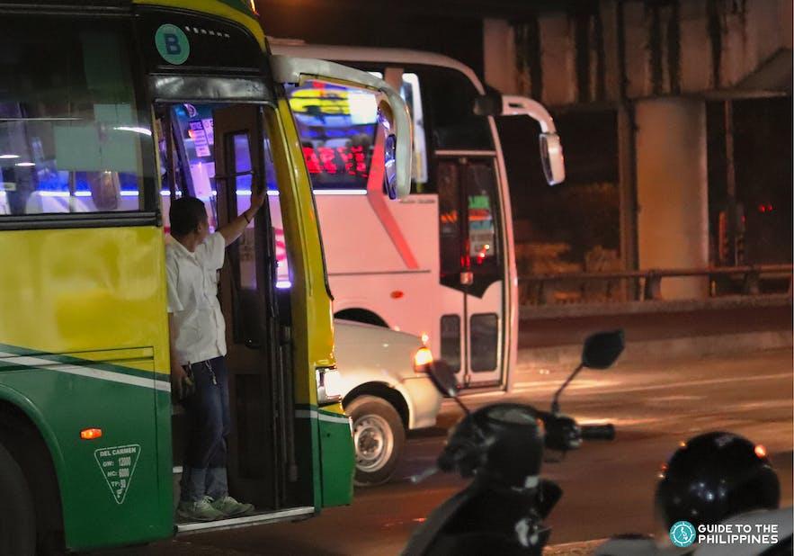 Bus in EDSA going to NAIA