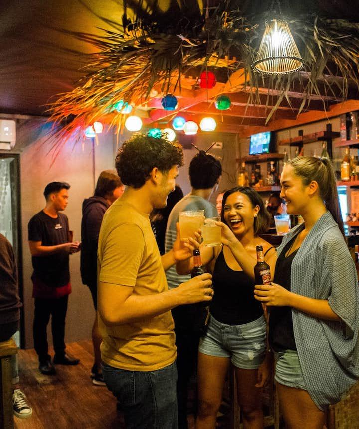 People drinking in a bar in Makati