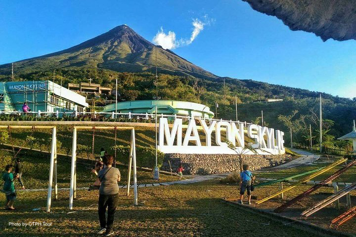 View of the Mayon Volcano before going up to the Mayon Skyline View Deck