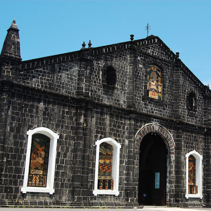 Beautiful facade of Tabaco Church in Tabaco City, Albay