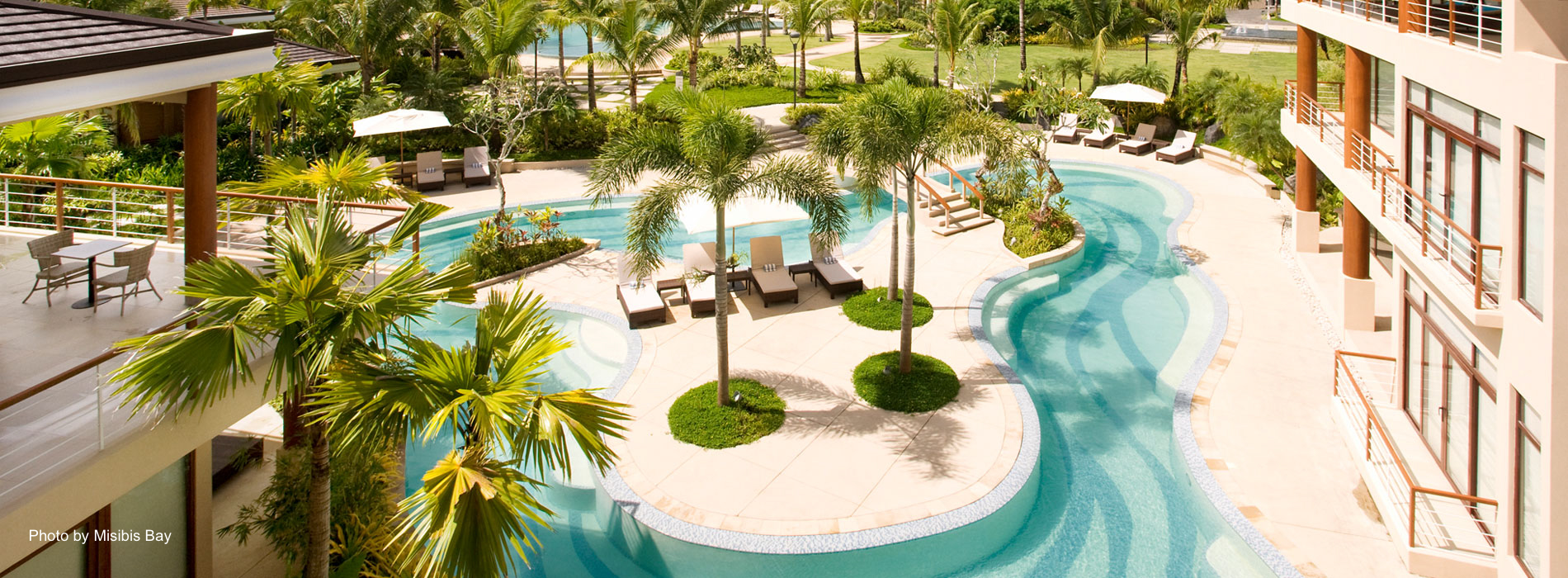 Enjoy the world-class facilities of Misibis Bay for relaxation like their popular swimming pool