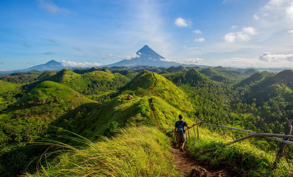 Verdant landscape of Quitinday Hills in Bicol