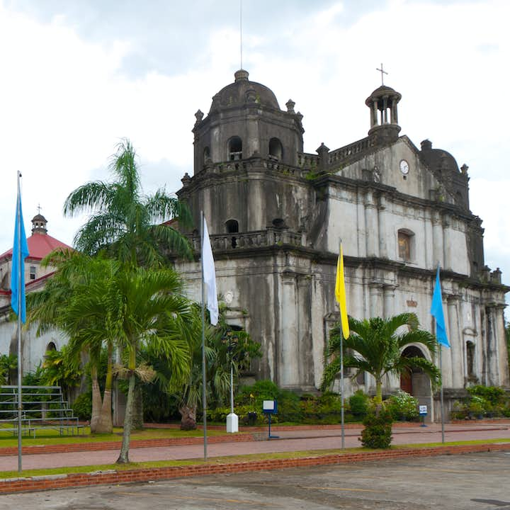 Facade of Naga Metropolitan Cathedral, one of the largest churches in Bicol