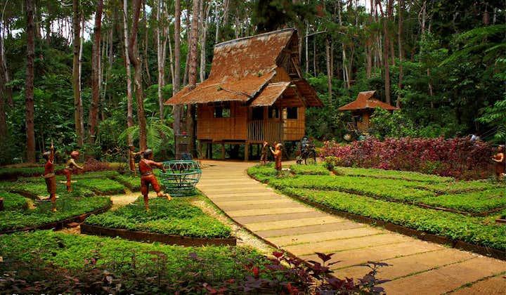 A nipa hut at Eden Nature Park in Davao