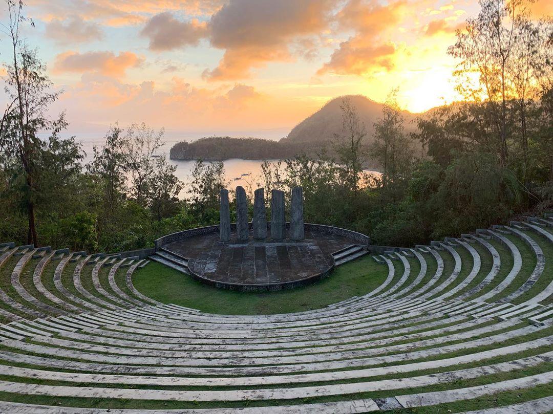 Open-air amphitheater at Cagraray Eco-Energy Park