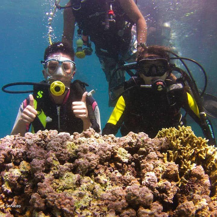 Diving activity at Talikud Island