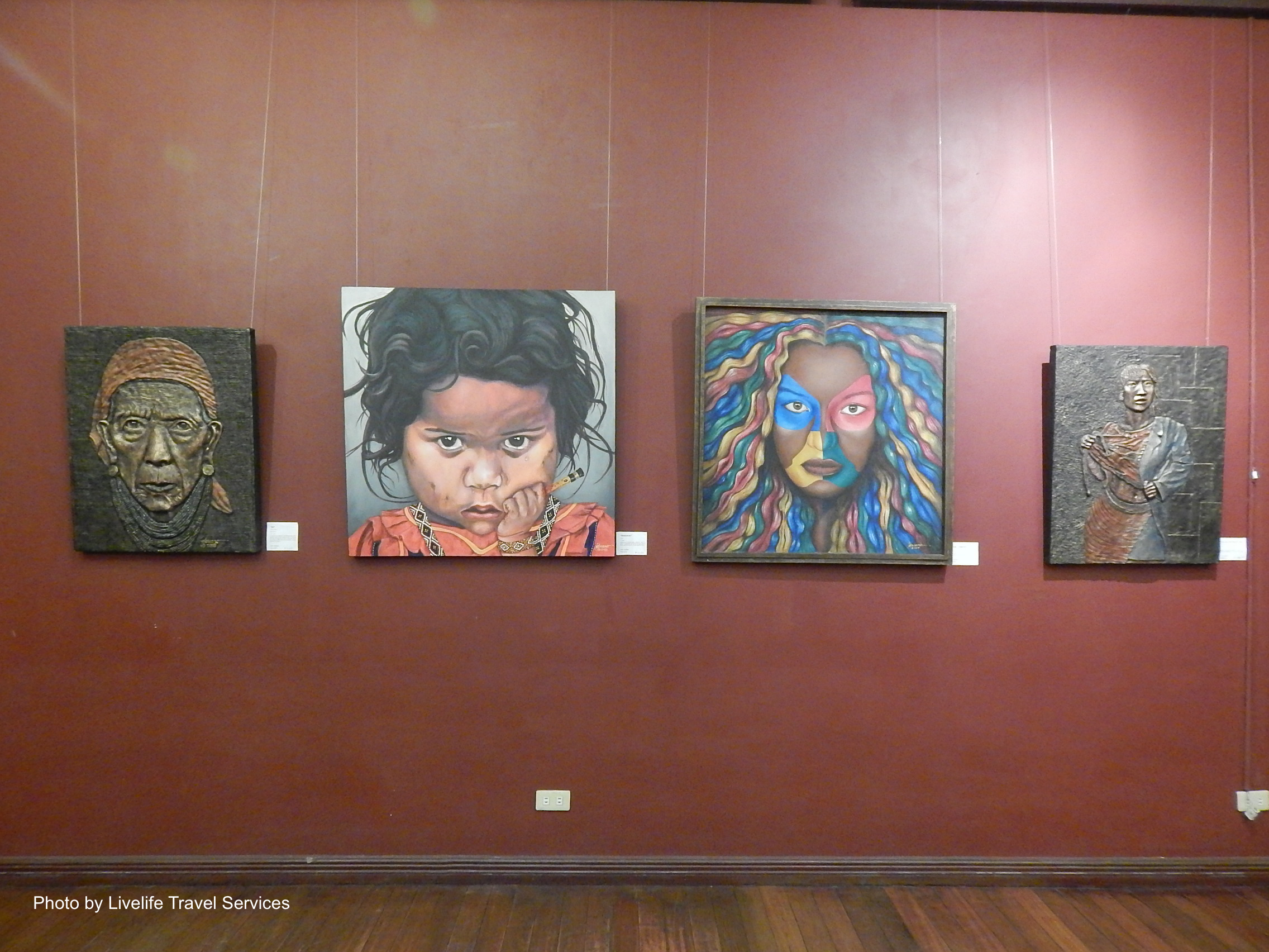 Paintings hanging inside the Museo Dabawenyo