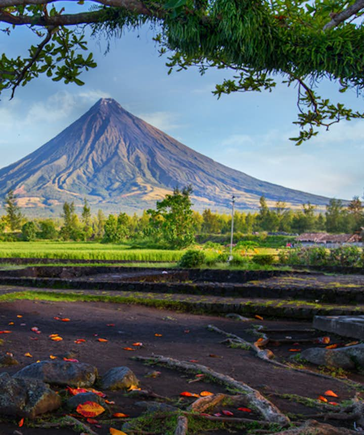 View of the majestic Mt. Mayon in Legazpi City, Albay