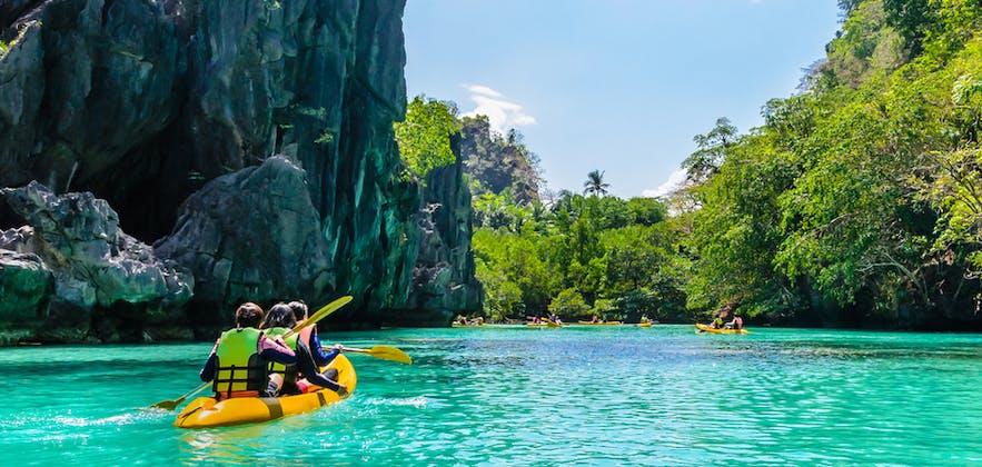 Kayaking at Big Lagoon in El Nido, Palawan